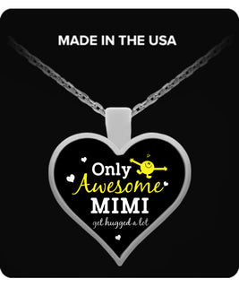 Only Awesome MiMi Get Hugged A Lot Necklaces & Pendants - Grandma Necklaces - TeeAmazing