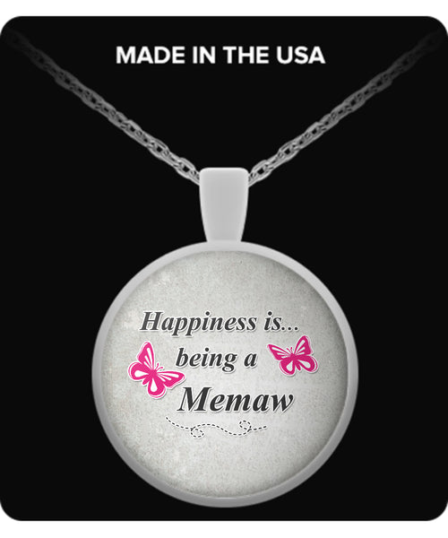 Happiness is being a MEMAW Necklace - TeeAmazing - 2
