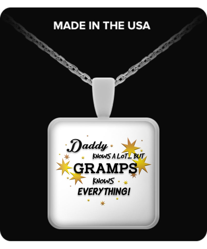 Gramps Knows Everything Necklace - Gramps Necklace - TeeAmazing
