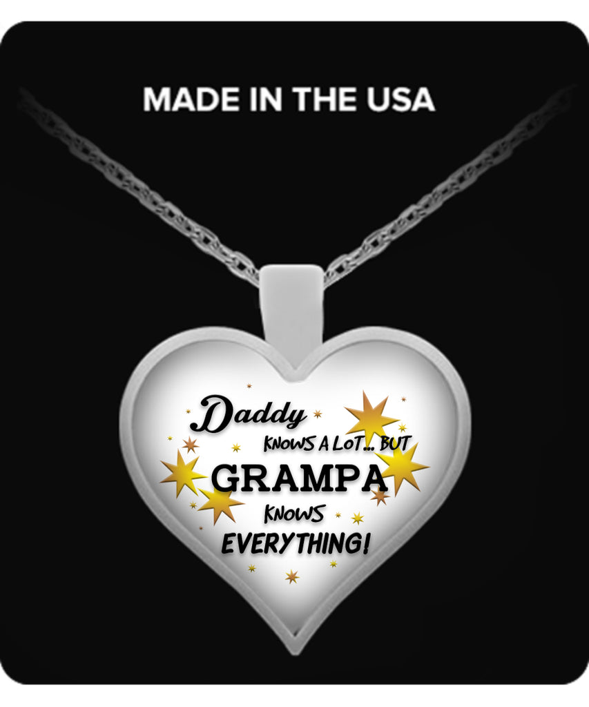 Grampa Knows Everything Necklace - Grampa Necklace - TeeAmazing