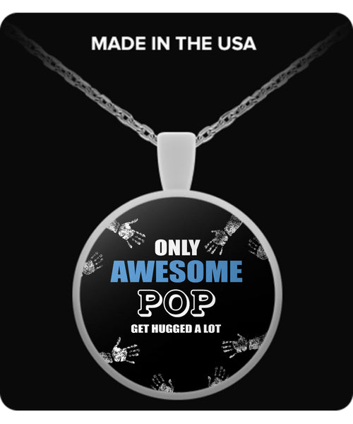 Only Awesome POP Get Hugged A Lot Necklaces & Pendants - Grandpa Necklaces - TeeAmazing - 1