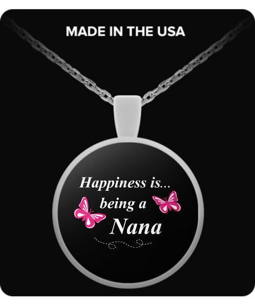 Happiness is being a NANA Necklace - TeeAmazing - 2