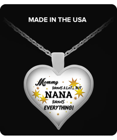 Nana Knows Everything Necklace - Nana Necklace - TeeAmazing
