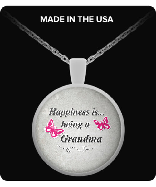 Happiness is being a GRANDMA Necklace - TeeAmazing - 2
