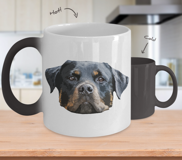 Rottweiler Dog Color Changing Mugs & Coffee Cups - Rottweiler Coffee Mugs - TeeAmazing - 2