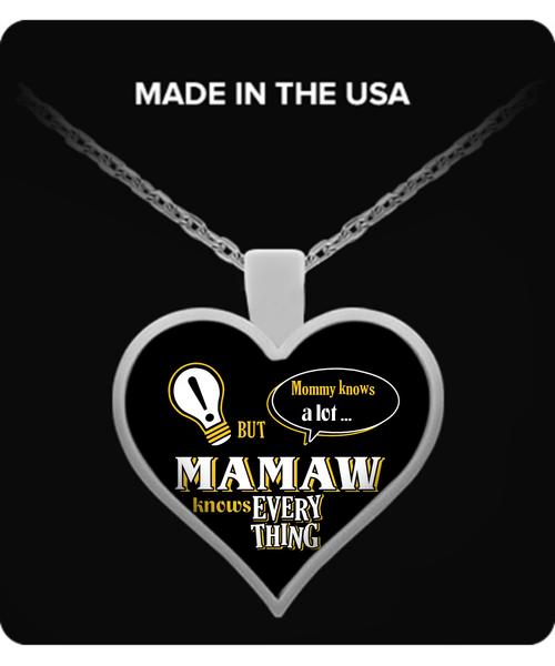 Mamaw Knows More Necklace - Mamaw Necklace - TeeAmazing - 1