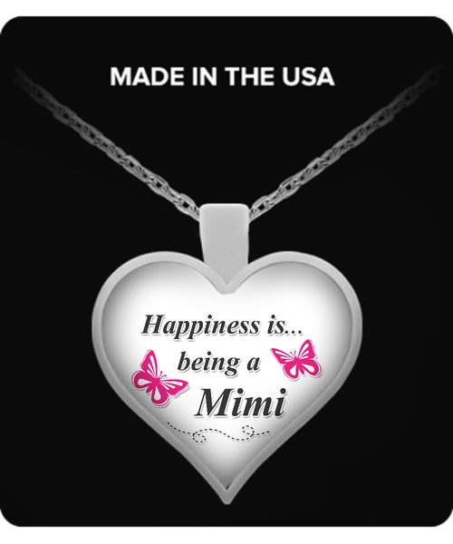 Happiness is being a MIMI Necklace - TeeAmazing - 1