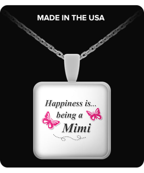 Happiness is being a MIMI Necklace - TeeAmazing - 3