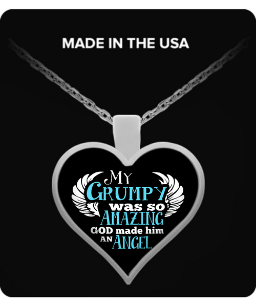 My Grumpy Was So Amazing Necklaces & Pendants - Grandpa Necklaces - TeeAmazing