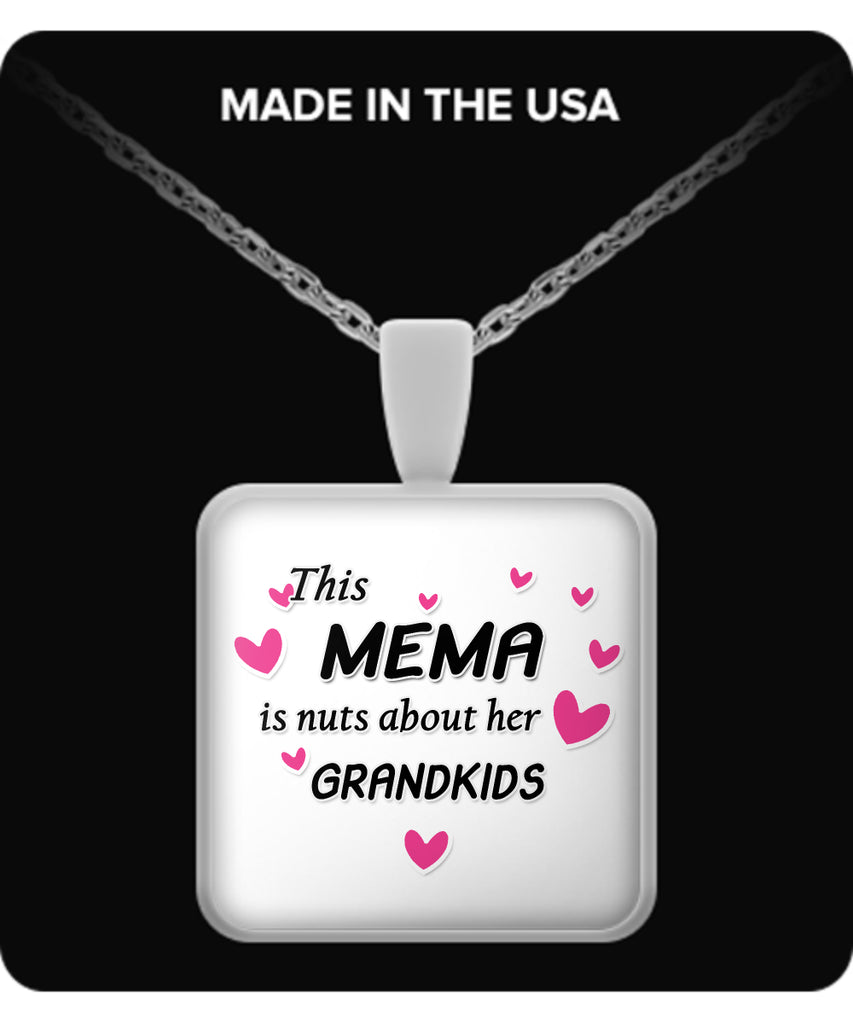 This Mema is nuts about her grandkids Necklace - TeeAmazing