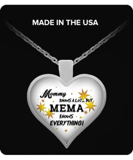 Mema Knows Everything Necklace - Mema Necklace - TeeAmazing