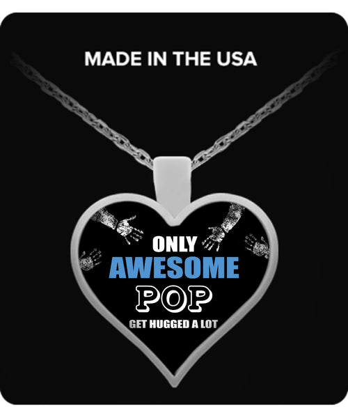 Only Awesome POP Get Hugged A Lot Necklaces & Pendants - Grandpa Necklaces - TeeAmazing - 3