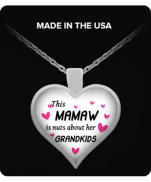 This Mamaw is nuts about her grandkids Necklace - TeeAmazing - 1
