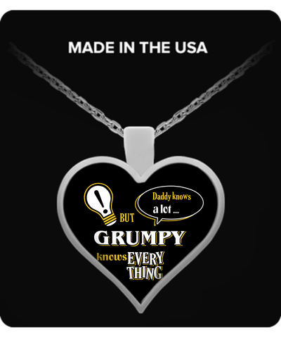 Grumpy Knows More Necklace - Grumpy Necklace - TeeAmazing