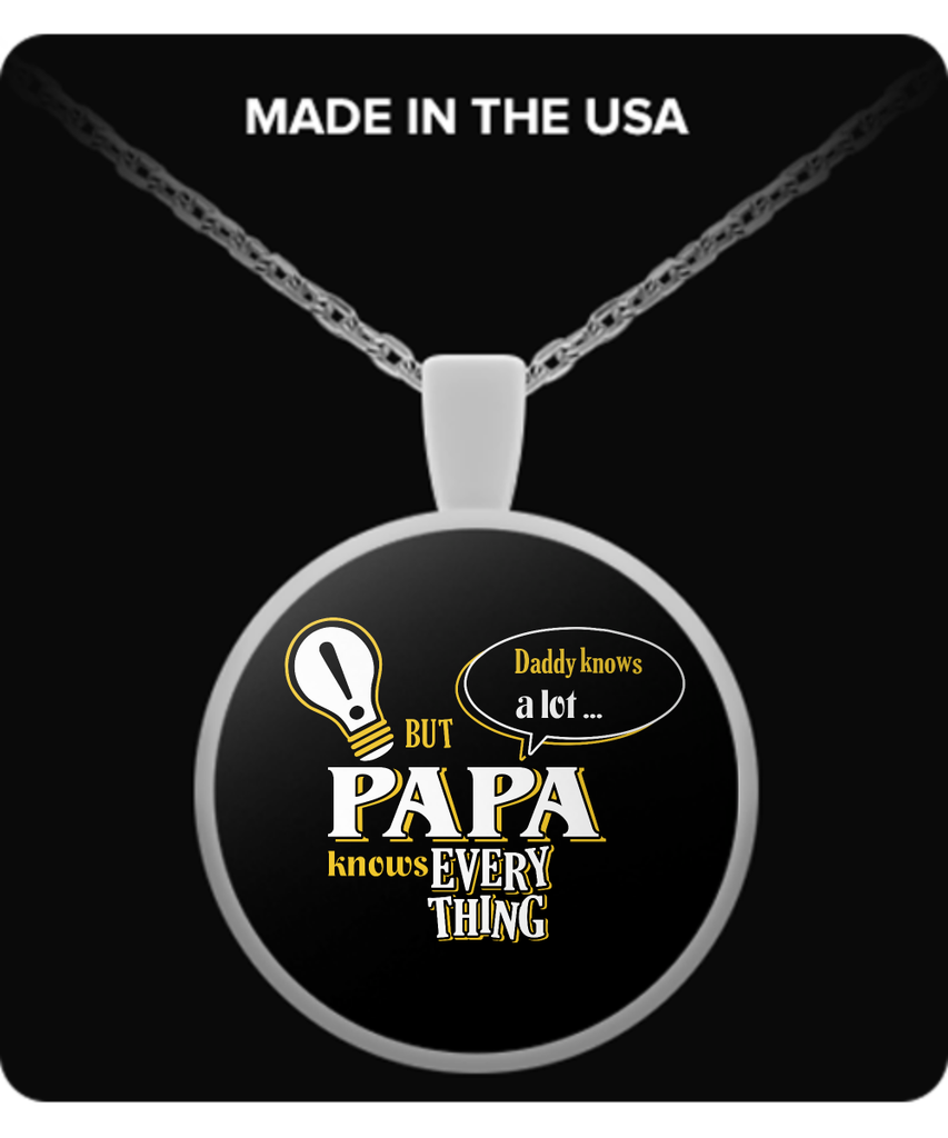 PAPA Knows More Necklace - PAPA Necklace - TeeAmazing