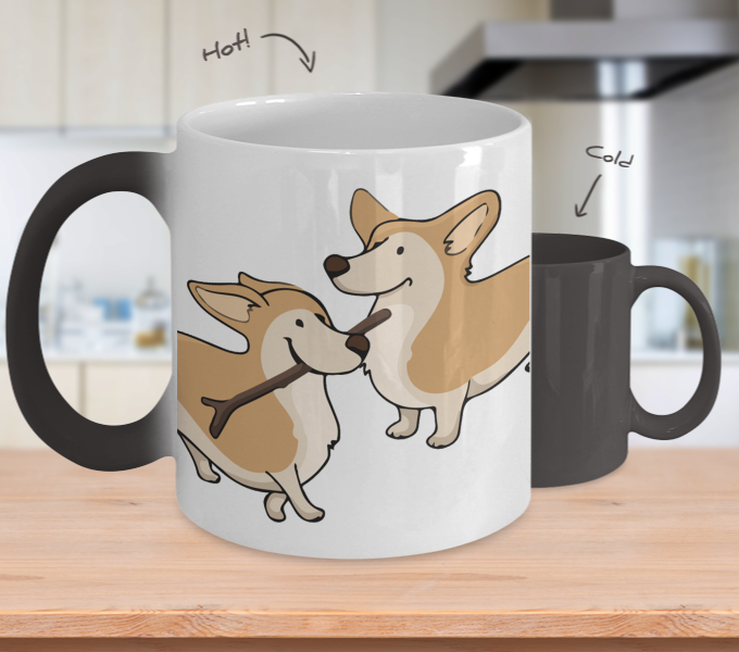 Corgi Color Changing Mugs & Coffee Cups - Corgi Coffee Mugs - TeeAmazing