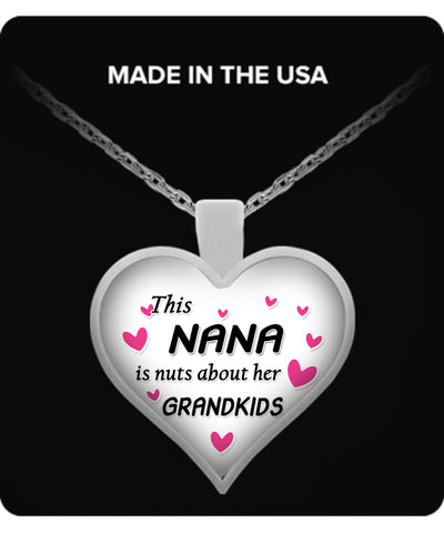 This NANA is nuts about her grandkids Necklace - TeeAmazing