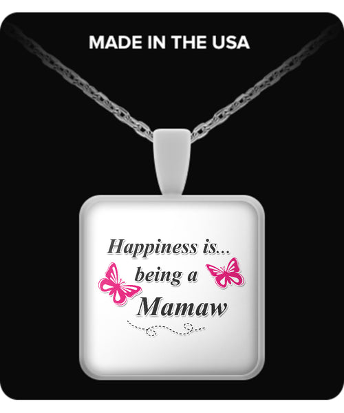 Happiness is being a MAMAW Necklace - TeeAmazing - 3