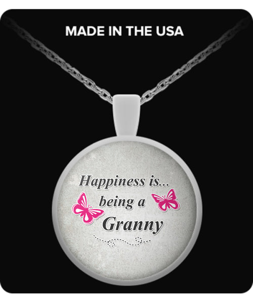 Happiness is being a GRANNY Necklace - TeeAmazing - 2