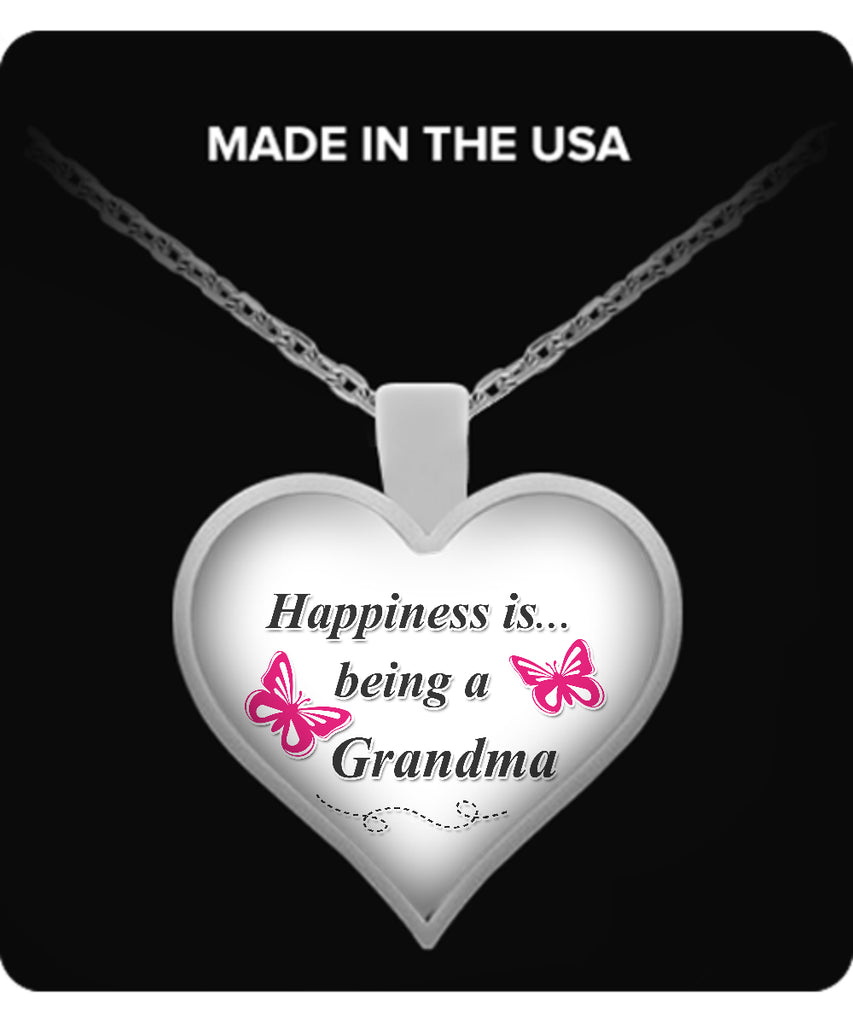 Happiness is being a GRANDMA Necklace - TeeAmazing