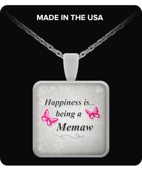 Happiness is being a MEMAW Necklace - TeeAmazing - 3