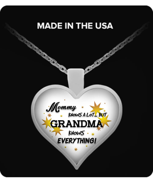 Grandma Knows Everything Necklace - TeeAmazing - 1