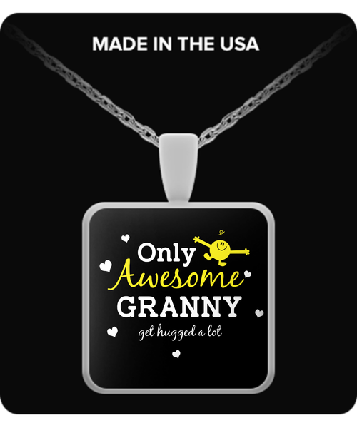 Only Awesome Granny Get Hugged A Lot Necklaces & Pendants - Grandma Necklaces - TeeAmazing - 3