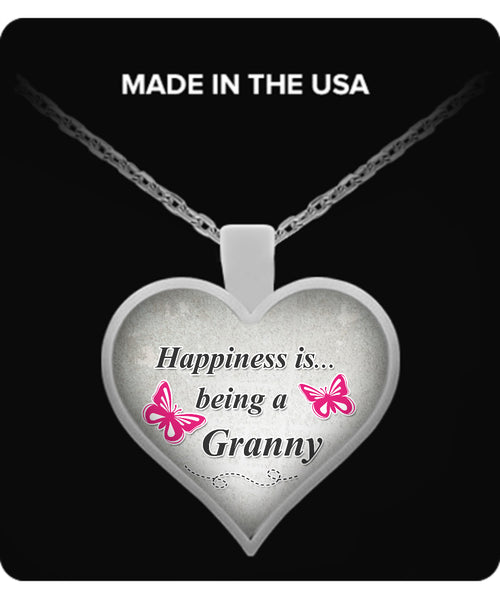 Happiness is being a GRANNY Necklace - TeeAmazing - 1