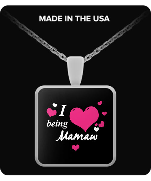 I being MAMAW Necklace - TeeAmazing - 3