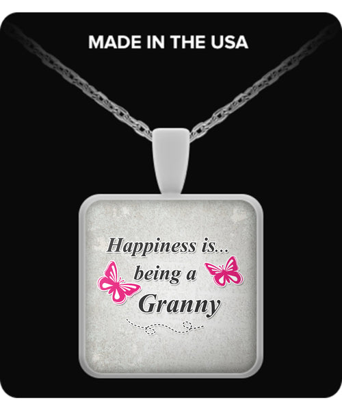 Happiness is being a GRANNY Necklace - TeeAmazing - 3