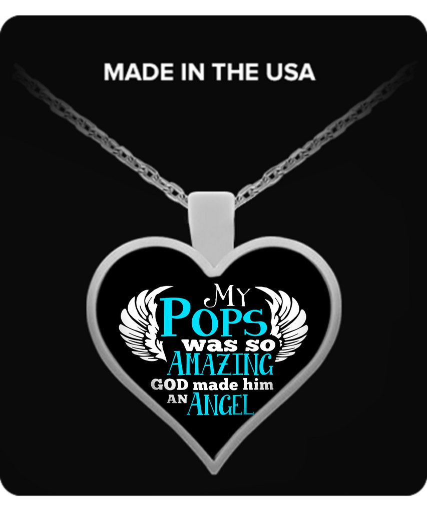 My Pops Was So Amazing Necklaces & Pendants - Grandpa Necklaces - TeeAmazing