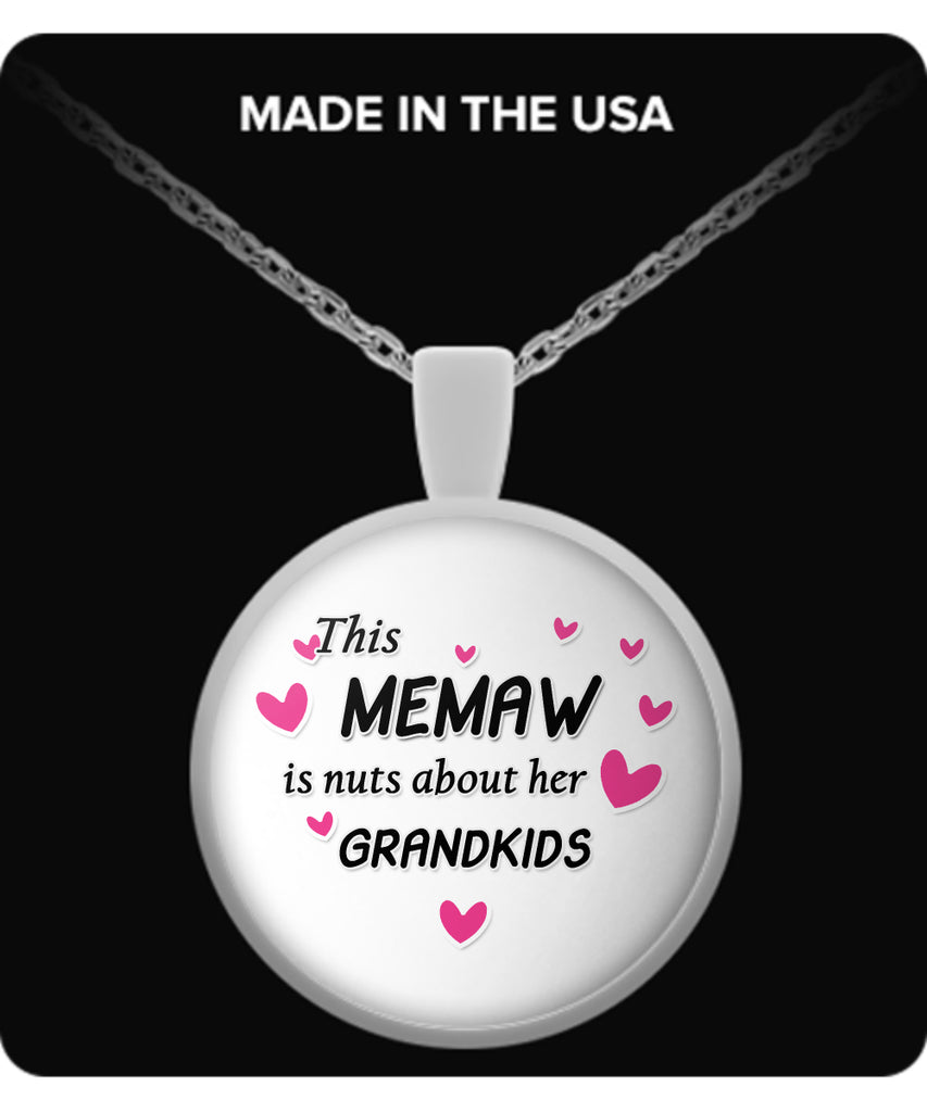 This Memaw is nuts about her grandkids Necklace - TeeAmazing