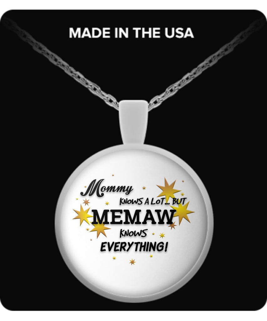 Memaw Knows Everything Necklace - Memaw Necklace - TeeAmazing