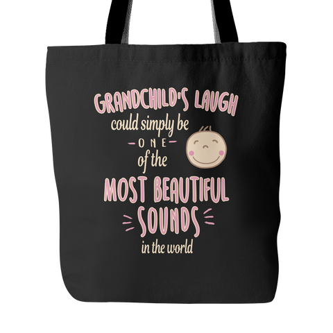 Grandchild's Laugh Tote Bags - Grandma Bags - TeeAmazing