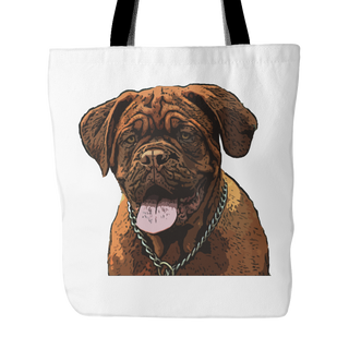 Dogues de Bordeaux Dog Tote Bags - Dogues de Bordeaux Bags - TeeAmazing