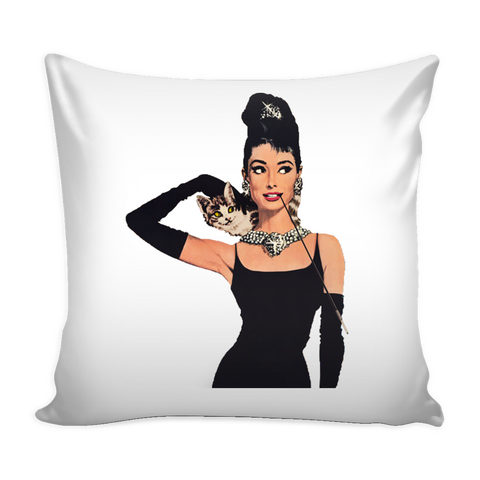 Audrey Hepburn Pillow Cover - Audrey Hepburn Accessories - TeeAmazing - 1