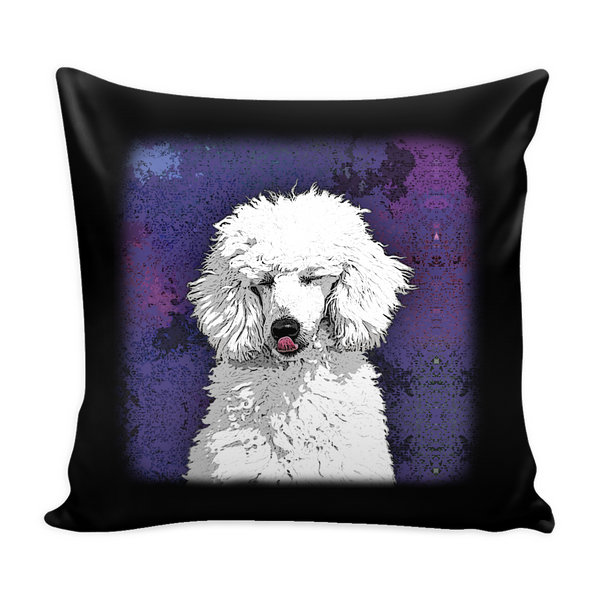 Painting Poodle Dog Pillow Cover - Poodle Accessories - TeeAmazing - 3