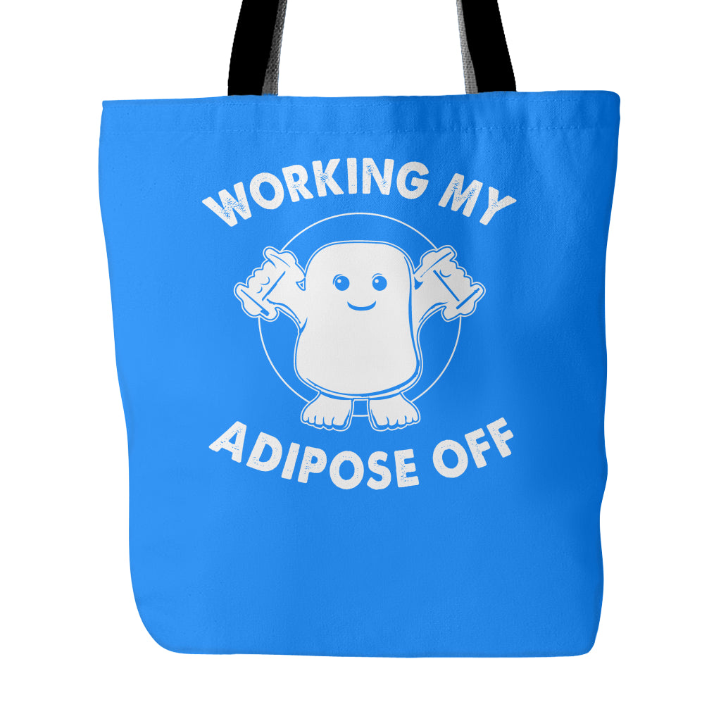 Working My Adipose Off Tote Bags - Doctor Who Bags - TeeAmazing