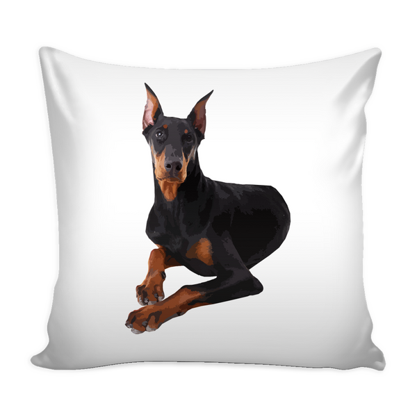 Doberman Pinscher Dog Pillow Cover - Doberman Pinscher Accessories - TeeAmazing - 1