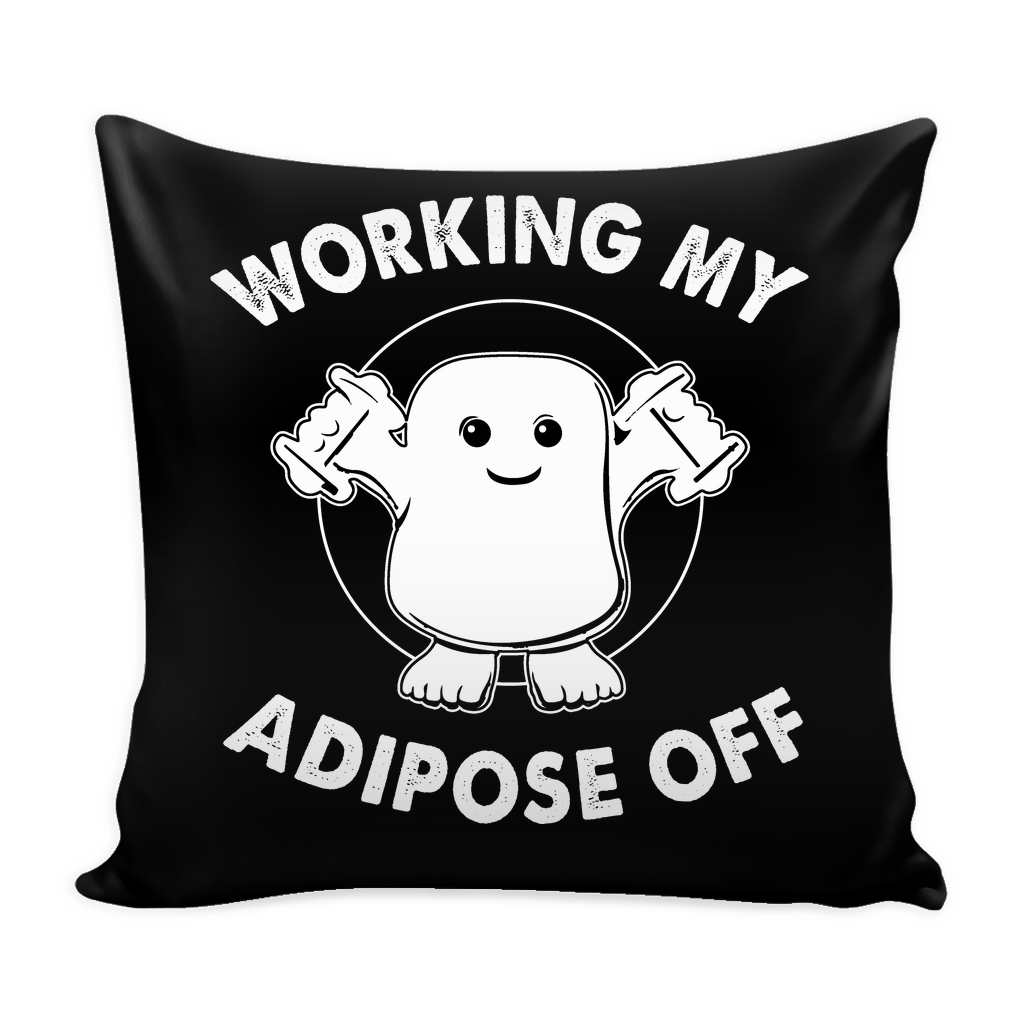 Working My Adipose Off Pillow Cover - Doctor Who Accessories - TeeAmazing