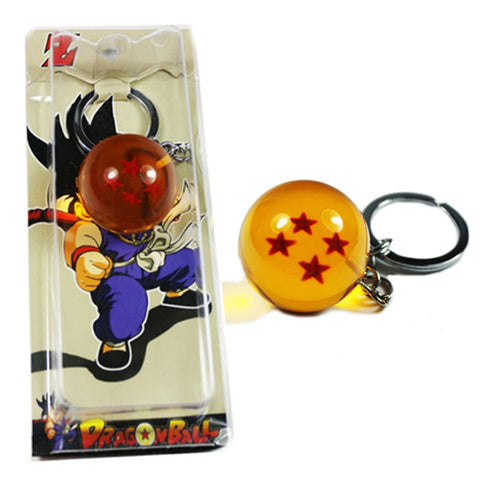 HOT!!! Dragon Ball Z DBZ Keychain Ring Four Stars Pendant - TeeAmazing