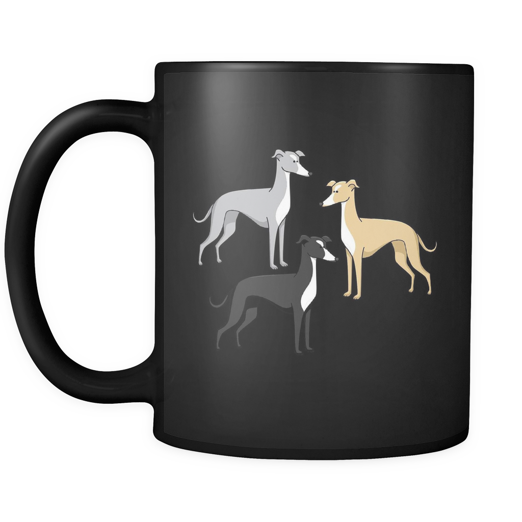 Greyhound Dog Black Mugs & Coffee Cups - Greyhound Coffee Mugs - TeeAmazing