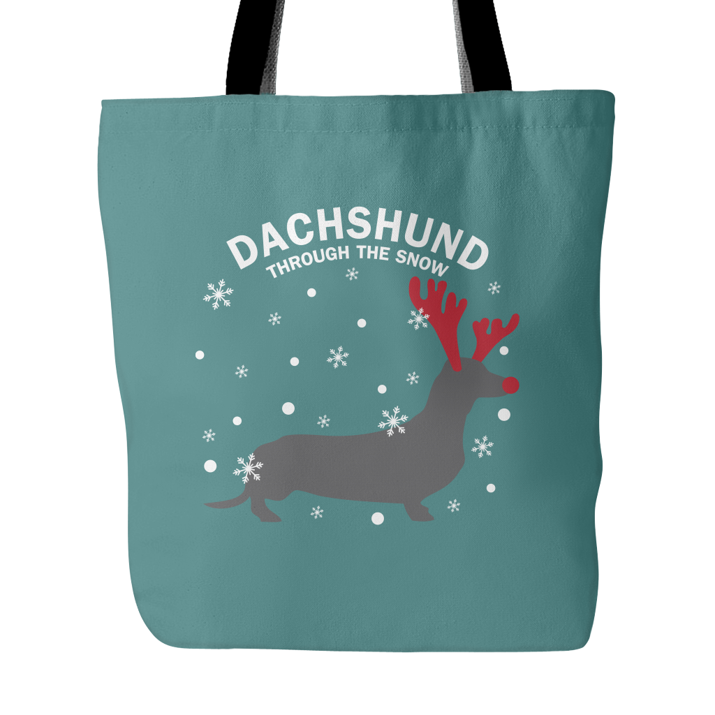Dachshund The Snow Dog Tote Bags - Dachshund Bags - TeeAmazing