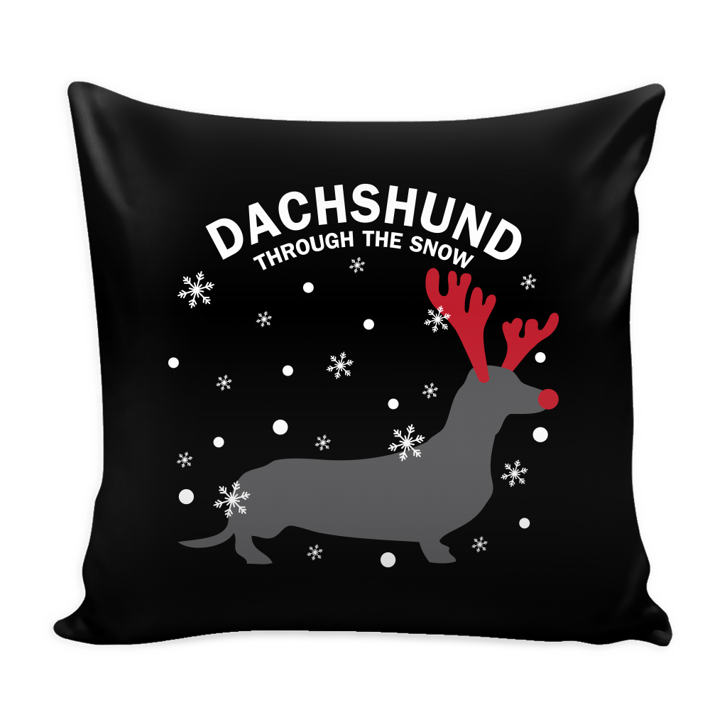 Dachshund The Snow Dog Pillow Cover - Dachshund Accessories - TeeAmazing