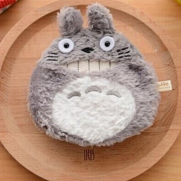 Kawaii Totoro Plush Coin Purse Key Wallet Card Bag - TeeAmazing