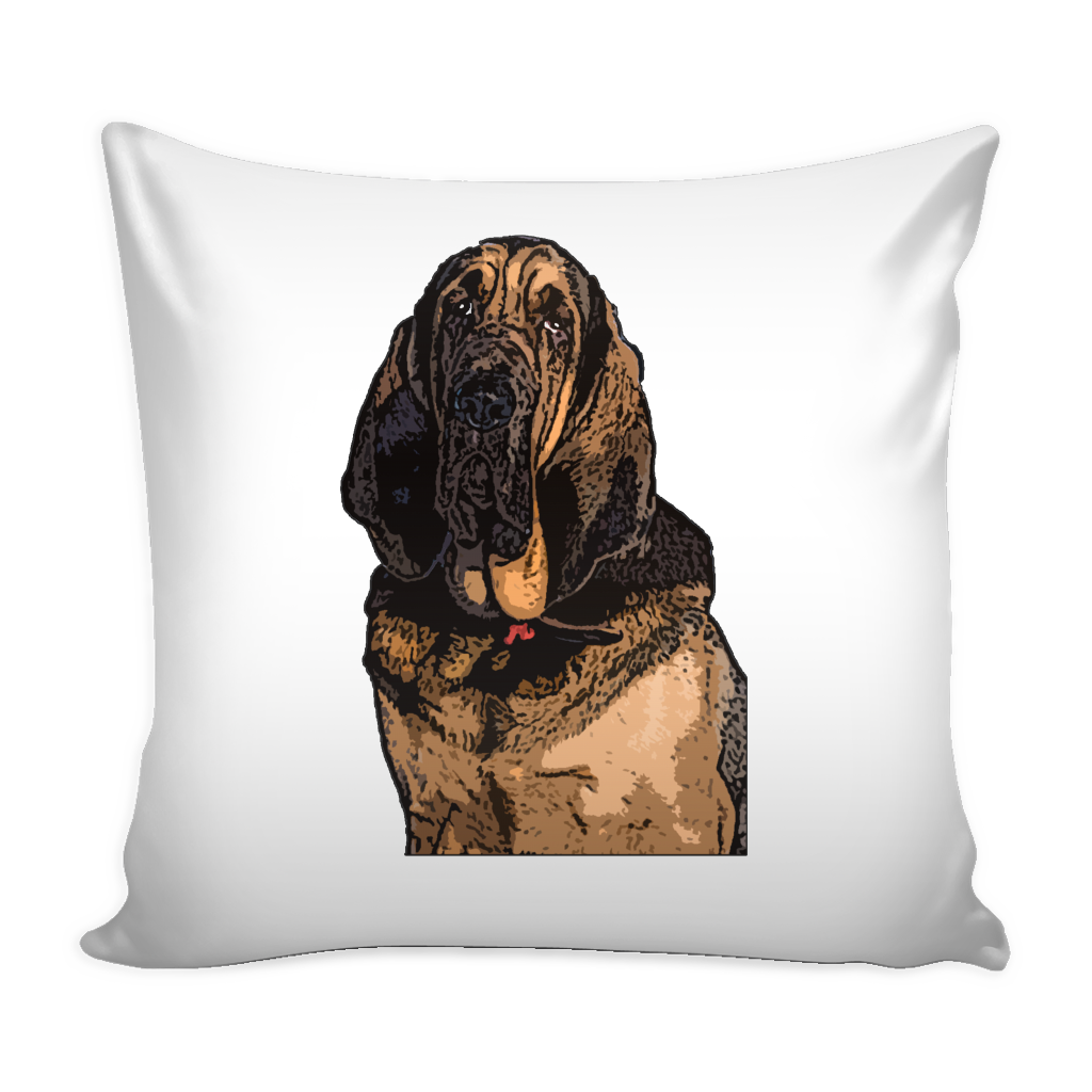 Bloodhound Dog Pillow Cover - Bloodhound Accessories - TeeAmazing - 1