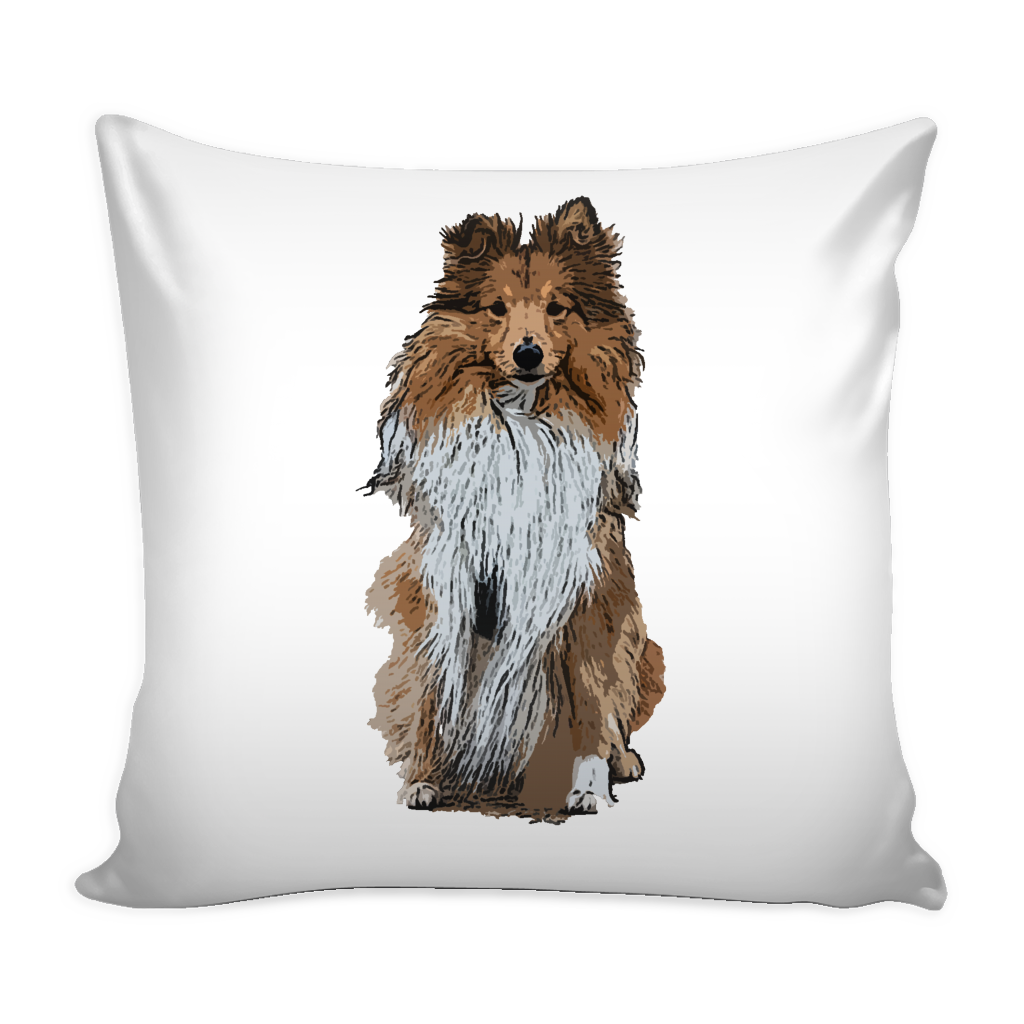 Shetland Sheepdog Dog Pillow Cover - Shetland Sheepdog Accessories - TeeAmazing