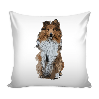 Shetland Sheepdog Dog Pillow Cover - Shetland Sheepdog Accessories - TeeAmazing - 1