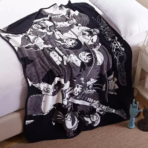 One Piece Soft Coral Fleece Bedding Blanket Accessories - One Piece Gifts - TeeAmazing - 1