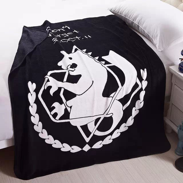 Fullmetal Alchemist  Soft Coral Fleece Bedding Blanket Accessories - Fullmetal Alchemist  Gifts - TeeAmazing